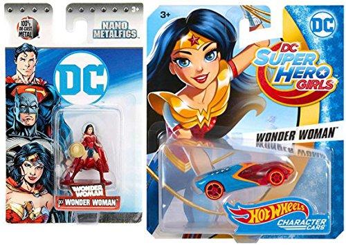 Hanna Barbera Characters Costumes (Hot Wheels DC Comics Super Hero Girls Character Car - Wonder Woman + Mini Figure Nano Metalfig DC4)