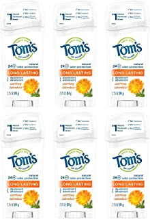 product image for Tom's of Maine Long-Lasting Natural Deodorant, Aluminum Free Deodorant, Deodorant for Women, Soothing Calendula, 2.25 Ounce, 6-Pack
