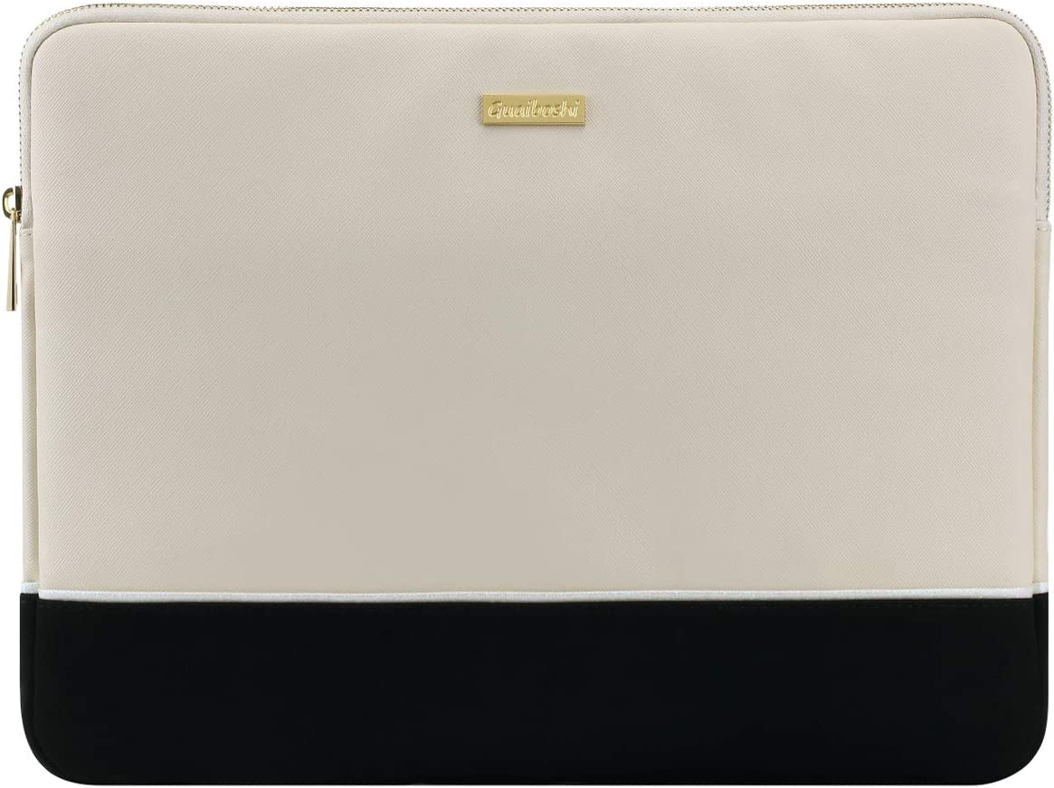 "Guaiboshi 11 Inch Tablet Sleeve Case Fits iPad Pro 11 2020/2018, iPad 7th Generation 10.2, iPad Air 3 10.5, iPad 9.7, 10"" Microsoft Surface Go, 10.1"" Lenovo Yoga Book, PU Leather Bag, Beige"