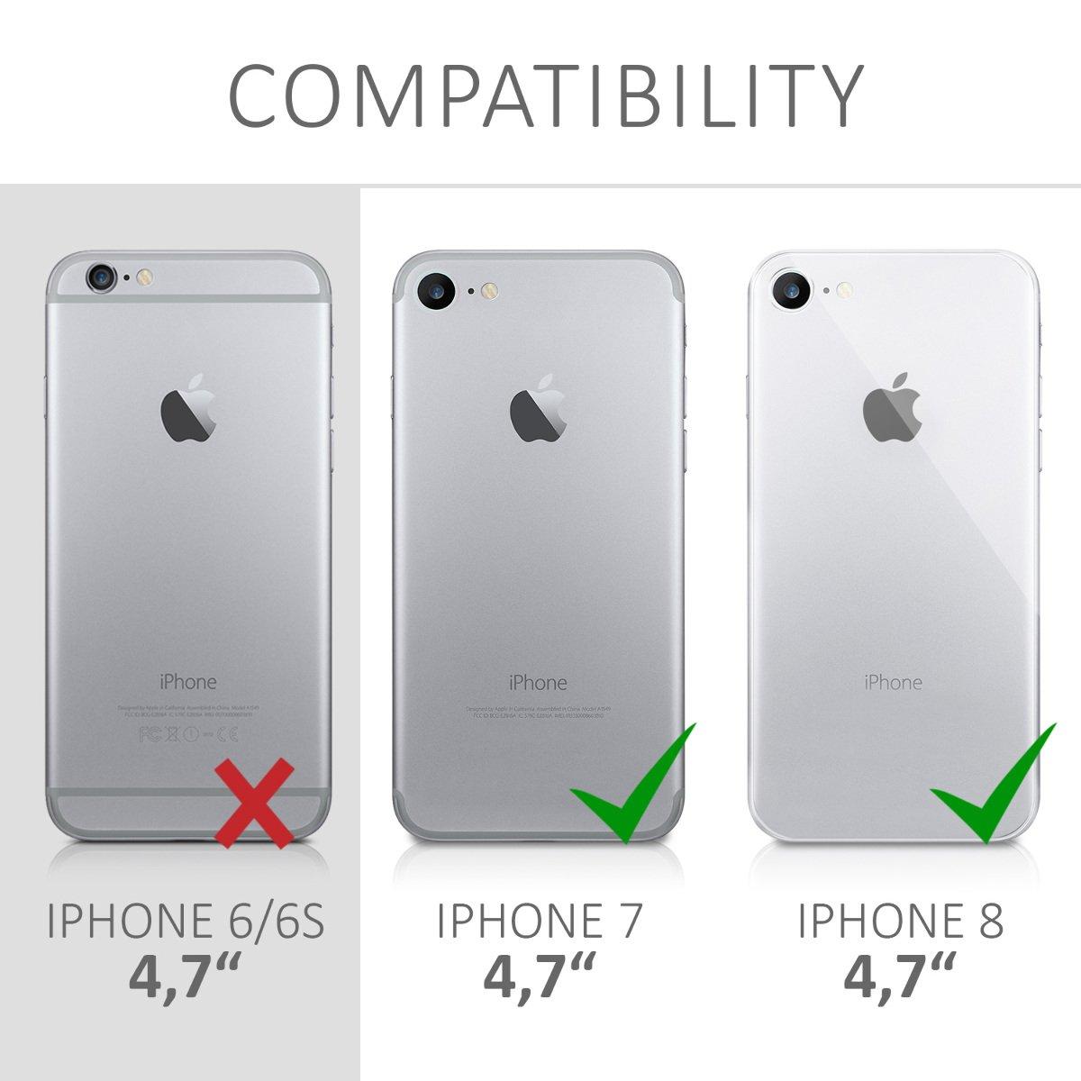 Housse de t/él/éphone en Silicone Bleu Clair Mat kwmobile Coque Apple iPhone 7//8 Coque pour Apple iPhone 7//8