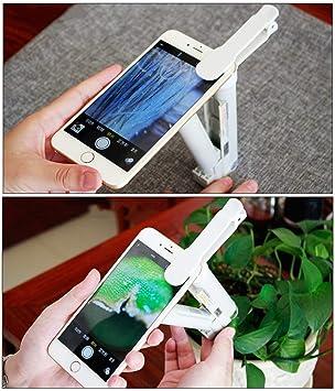 argento Mini lente di ingrandimento portatile multifunzionale rilevamento della moneta con LED e luce UV dimensioni 60 x per microscopio portatile