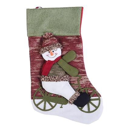 mikolotuk Calcetines no Tejidos del Bolso del Regalo del patrón de la Navidad de la Tela