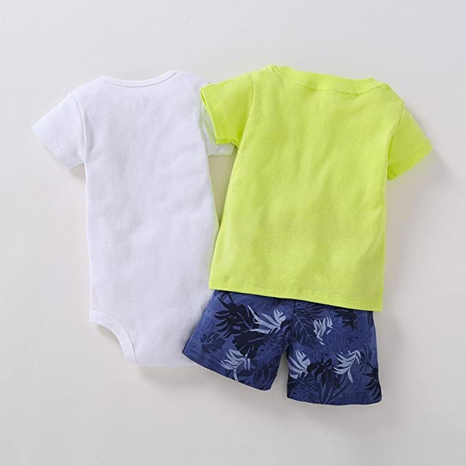 Amazon.com: Efaster Baby Boy Letter Pattern Print Tops+Shorts+Cartoon Romper Outfits Set: Clothing