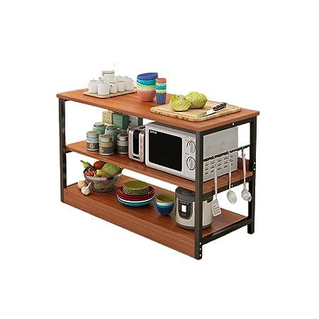 Estante de almacenamiento para microondas de 3 niveles + mesa de 3 ...