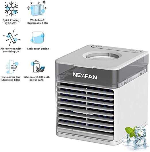 Tutu Air Coole portátil con lámpara UV,NexFan Mini Air Cooler 4 en ...
