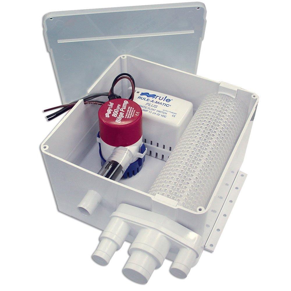 Rule 800 G.P.H. Shower Drain Kit w/Multi-Port Inlet by Rule