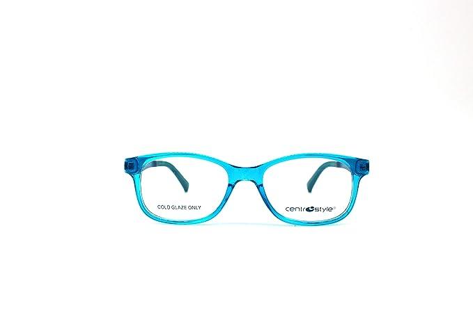 Bleu Style Monture Turquoise Lunettes Garçon Ciel 46 De Centro 76gyfb