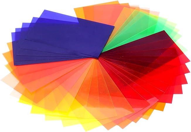 Neewer Universal 35 Stück Farbfolien Blitz Gele Kamera