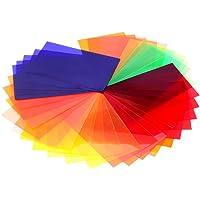 Neewer® Universal 35 Stück Farbfolien Blitz Gele farbige Beleuchtungs Gele Farbe Speedlite Farbfilter Set für Neewer Canon Nikon Sony Pentax Olympus Metz und alle Arten Blitzgeräte für Digitalkameras