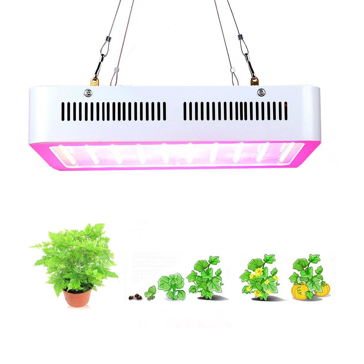 1000W LED Grow Light, Supmovo LED Grow Light Kit, Full Spectrum with UV IR for Green House Veg and Flower, LED Plants Grow Lamp for Indoor Plants Weeding, Growing