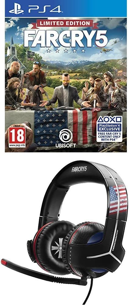 Far Cry 5 - Edición Limited (Edición Exclusiva Amazon) + Thrustmaster - Auriculares Y-300CPX Far Cry 5 Edition (PS4, PS3, Xbox One, Xbox360, PC, VR, Nintendo Switch): Amazon.es: Videojuegos