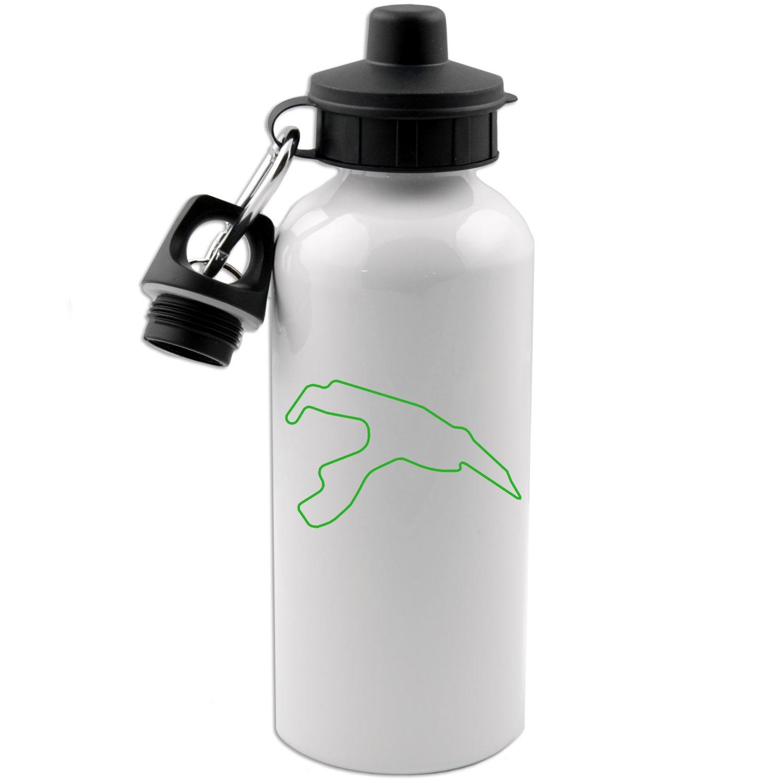 Circuit de Spa-Francorchamps Track Map Belgium F1 20 OZ White Aluminum Water Bottle (LIME GREEN)
