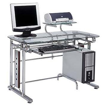 Multiko Moderner Schreibtisch Sussex 6af Chrom Gehartetes Glass