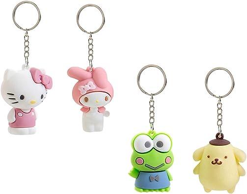Cute Bag Pendant Cartoon Keychains Key Ring Leather Case Access Control Card