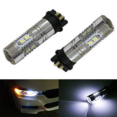iJDMTOY (2) Xenon White Error Free PW24W LED Replacement Bulbs For BMW F30  3-Series 320i 328i 335i Volkswagen MK7 Golf GTi For Daytime Running Lights