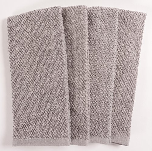 KAF Home Pantry Montclair Kitchen Towels (Set of 8, 16x26 inches), 100% Cotton, Ultra Absorbent Terry Towels - Drizzle by KAF Home (Image #5)