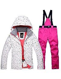 Ski Jacket Pants Set Winter Womens Snowsuit Windproof Waterproof Outdoor Warm Thermal Snow Snowboard Skiwear Clothes