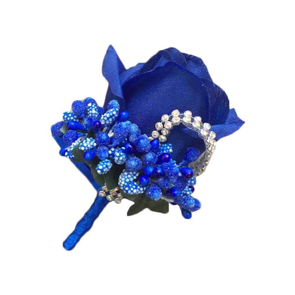 TREESTAR Boutonniere for Groom Wedding Artificial Rose Flower with Pins for Groom Best Men Suit Brooch for Prom