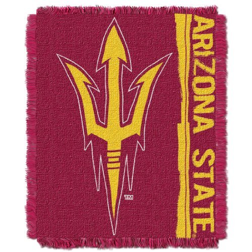 The Northwest Company NCAA Arizona State Sun Devils Double Play Jacquard Throw, 48