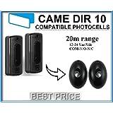 CAME DIR10 Compatibile COPPIA FOTOCELLULA FOTOCELLULE DA ESTERNO PER PORTE CANCELLI AUTOMATICI 12-24V ac-dc, N.O / COM / N.C