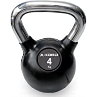 Kobo Kettlebell Cast Iron Rubber Coated with Chrome Handle (Imported)