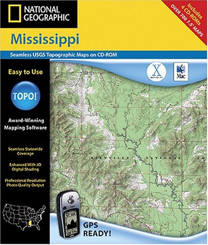 National Geographic TOPO! Map of Mississippi (Mac)