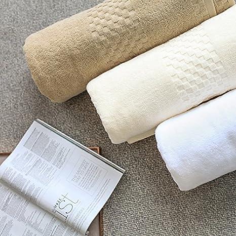 Adulto grande Algodón toalla 180 90 intensificar suave y absorbente grueso hoteles para parejas, los hombres blancos y las mujeres.: Amazon.es: Hogar