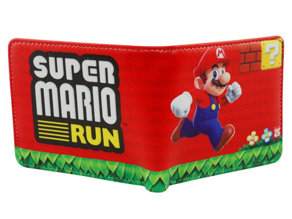 Gogofuture Super Mario Run Stampa 3D Portafogli in Pelle di PU Comodo Facile e Stabile Effetto Usato e Popolare Portafogli Moda Super Mario Wallet Un Regalo Accuratamente Preparate per il tuo Bambini FTH2822WJ4815J0CX