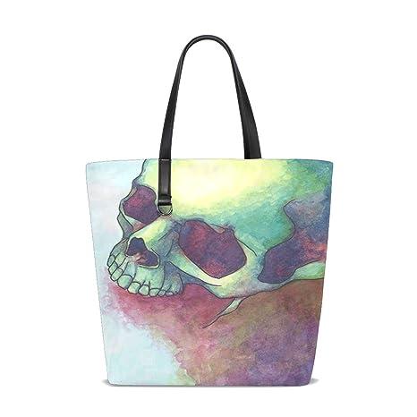 Amazon.com: Skulls And Bones Tote Bag Purse Handbag Womens ...