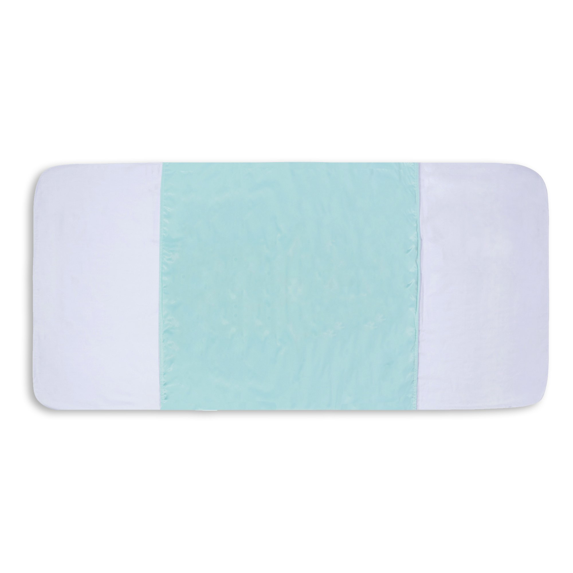 Saddle Style Reusable Waterproof Bed Pad - Made in America (34'' X 36'')- 3 Pack (LIGHT GREEN)
