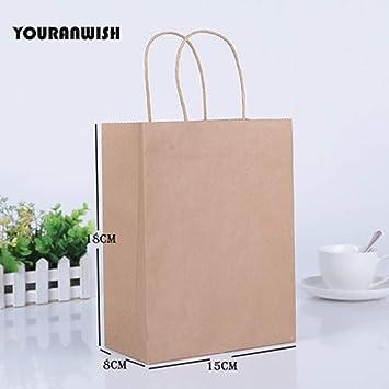 Amazon.com: Chitop - Bolsa de regalo de papel kraft con asa ...