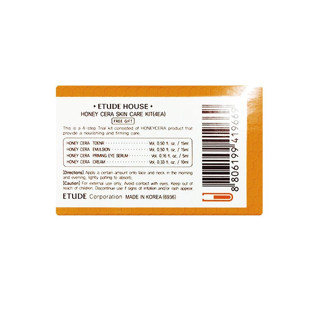efc9d10210 Buy Etude House Honey Cera Skin Care 4 Kit [Toner+Emulsion+Eye Serum+Cream]  Online at Low Prices in India - Amazon.in