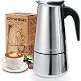 Godmorn Cafetera italiana,Cafetera espressos en Acero inoxidable430,6 tazas(300ml),Conveniente para la cocina de…