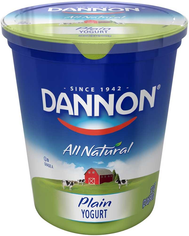 Dannon All Natural Quart Plain Yogurt, 32 Ounce - 6 per case.