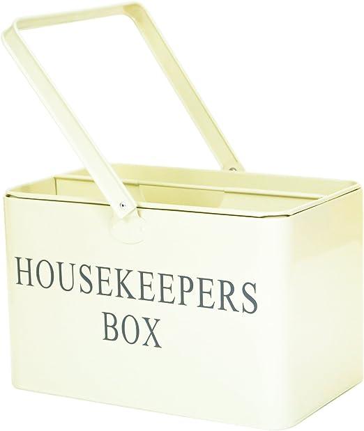 Caja retro vintage para transportar herramientas de limpieza ...