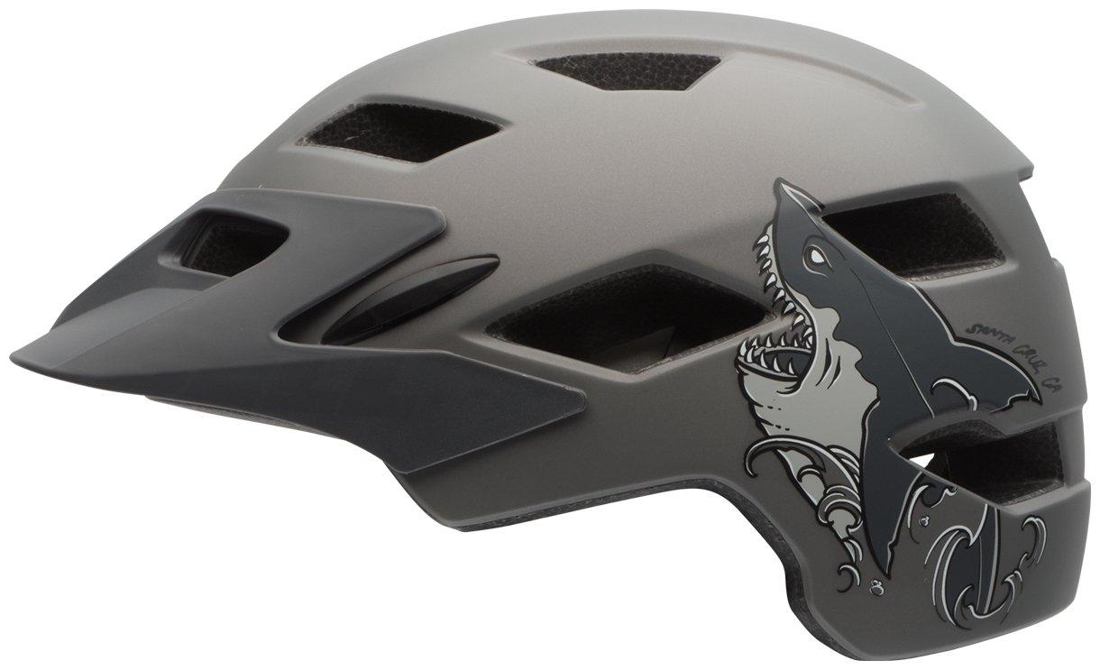 Bell Sidetrack Youth Bike Helmet - Kid's Matte Titanium Shark