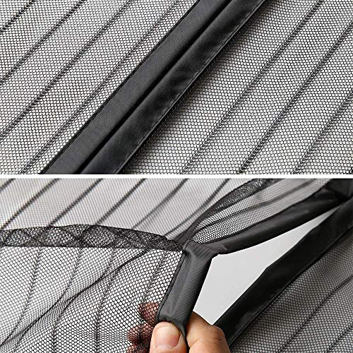 Magnetic Fly Screen Door, Window Mesh Curtain, Automatic Closure Magnetic  adsorption Easy to Open and Close, for Living Room/Patio Door/Window -  Black