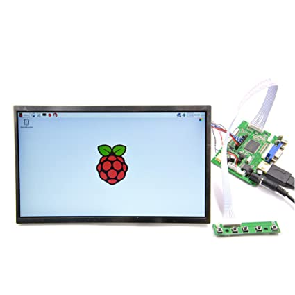 GeeekPi 10 1 inch 1366x768 LCD Display HDMI Monitor TFT Screen Panel Driver  Board HDMI+VGA+2AV for Raspberry Pi 3/2 Model B/B+ / B/A+