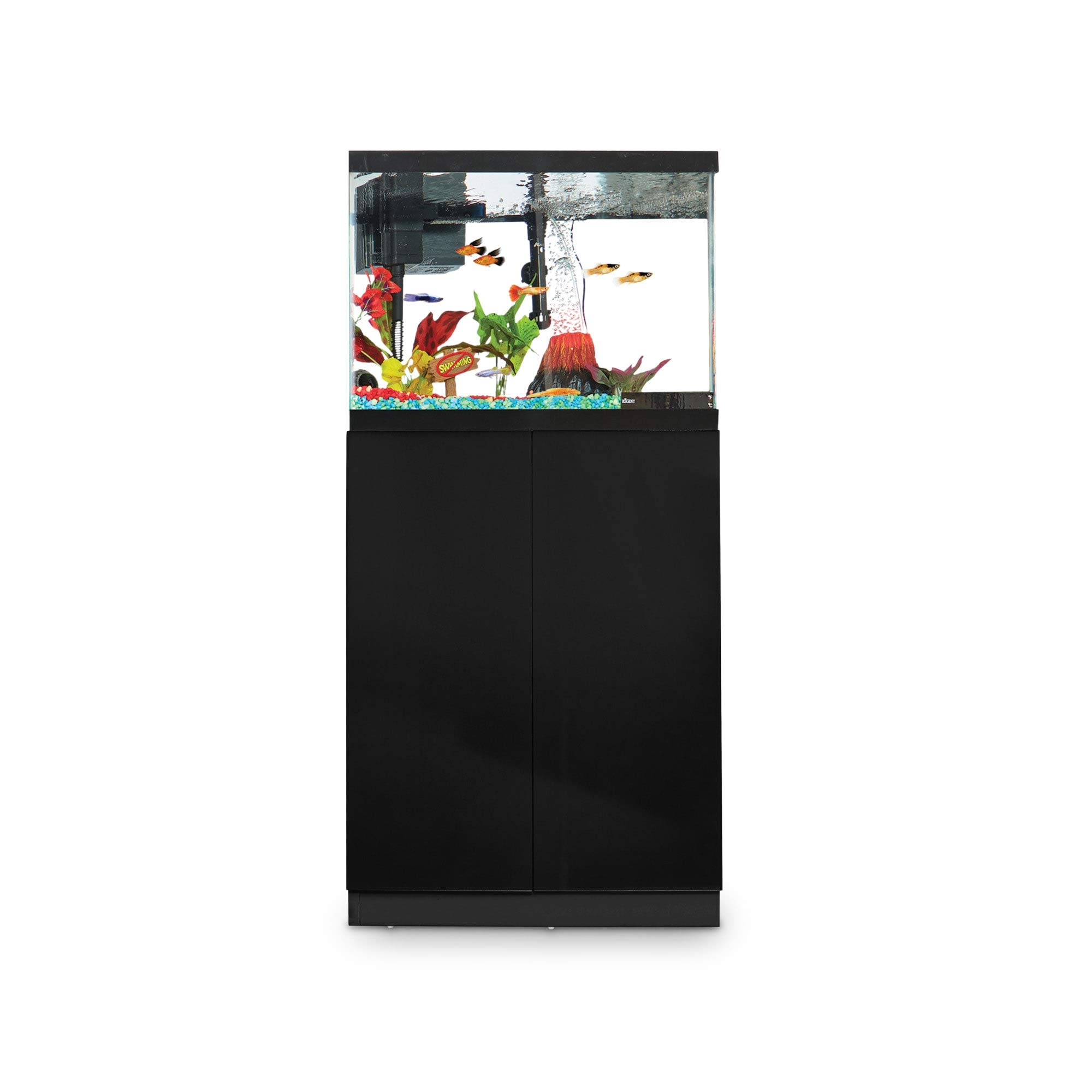 Imagitarium Black Gloss Fish Tank Stand, Up to 20 Gal.