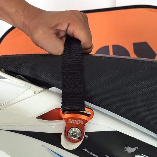 84398309e18c Amazon.fr   JFG RACING 2 PCS Universal Moto Sangle De Remorquage Boucle De Remorquage  Sangles Lourds Avant et Arrière Tirage Tirez Drag Ceinture Ensemble ...