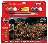 Airfix 1:32 Multipose WWII British Infantry Starter Set ()