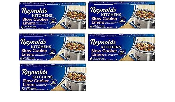 Amazon.com: Reynolds Kitchens KklKvk Slow Cooker Liners, Regular Size, 6  Count, 5 Pack: Home U0026 Kitchen