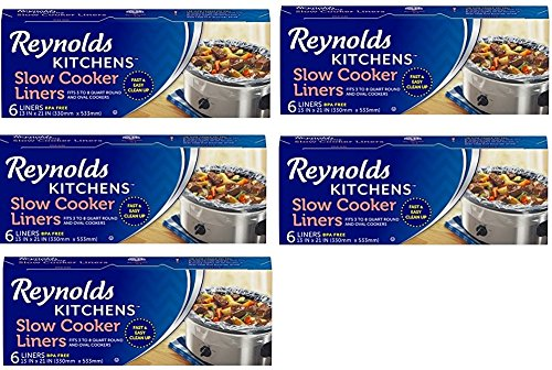 Reynolds Kitchens IHCcai Slow Cooker Liners, regular Size, 6