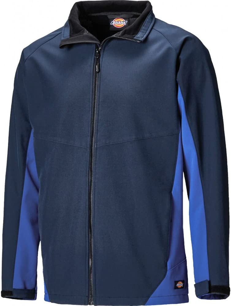 Navy Blue//Grey Dickies JW84955 NGY3XL Size 3X-Large Maywood Softshell Jacket