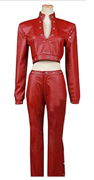 Amazon.com: vicwin-one Anime Ban rojo Pleather Cosplay ...