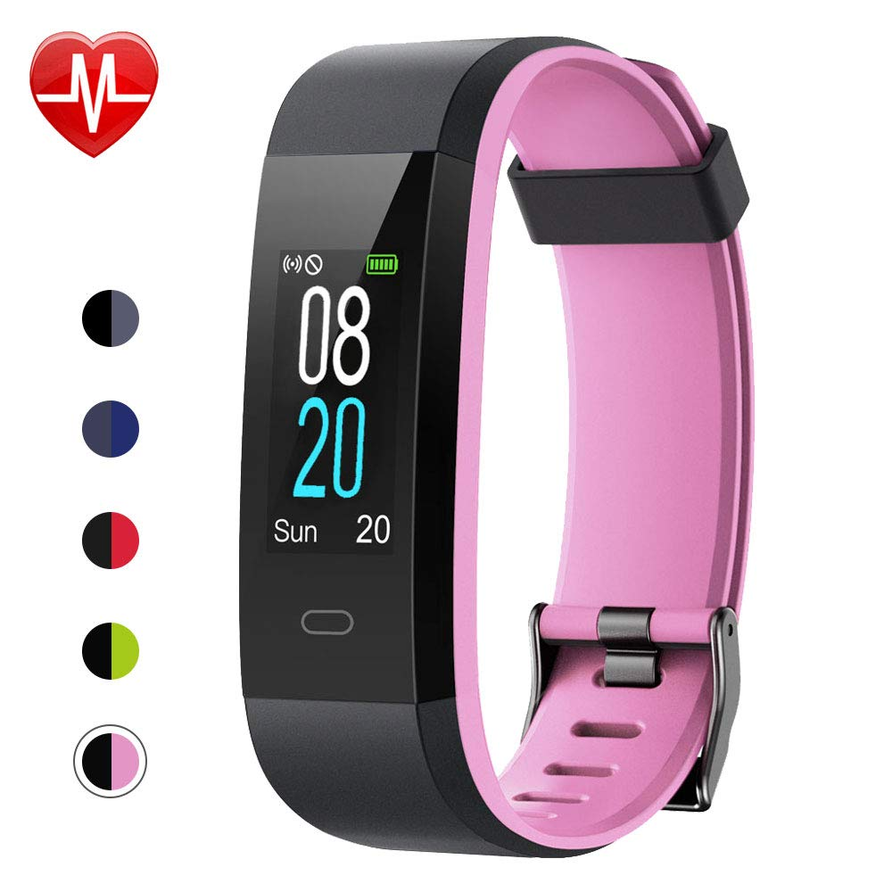 Willful Fitness Tracker with Heart Rate Monitor, Activity Tracker Pedometer with Step Counter Sleep Monitor 14 Sports Tracking,Color Screen IP68 Waterproof,Fitness Watch for Women Men Kids (Pink) by Willful