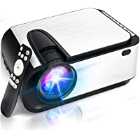 """$79 » Mini Projector, [2021 Upgraded] 6000 Lumen Video Projector, 1080P Supported 210""""…"""