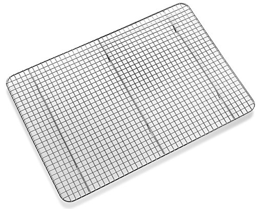ck - Baking Rack, Chef Quality 12 inch x 17 inch - Tight-Grid Design, Oven Safe, Fits Half Sheet Cookie Pan ()