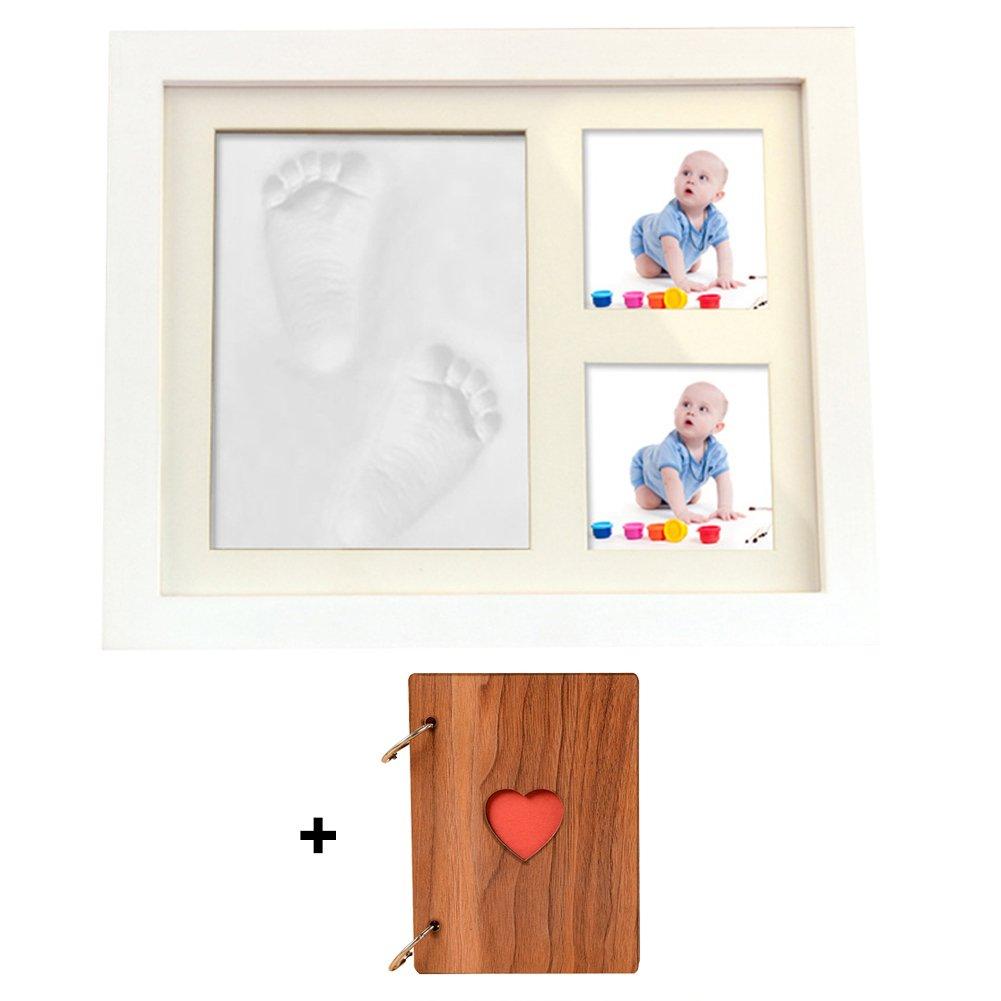 sobotoo Baby Hand & Footprint Bilderrahmen Kit mit Fotoalbum für ...