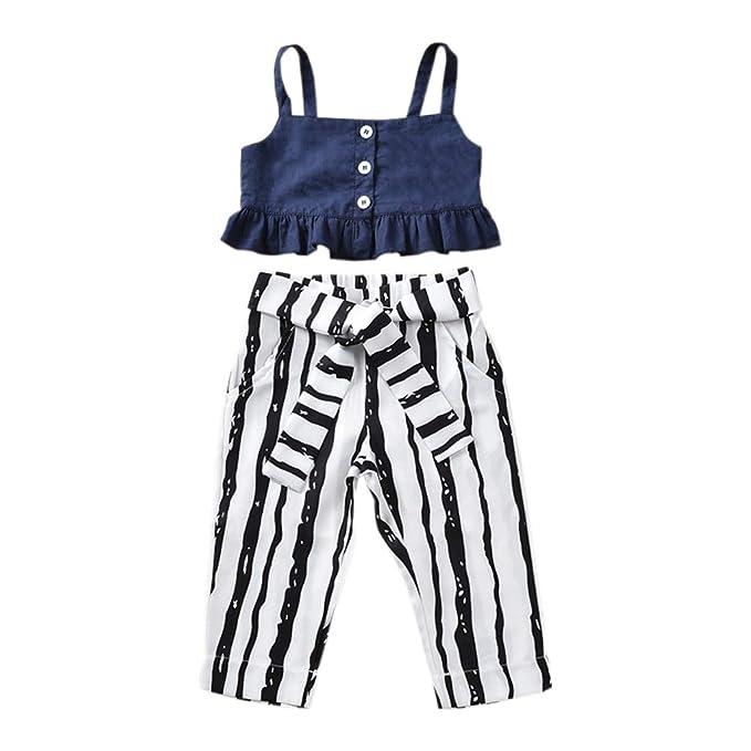 Amazon.com: Conjunto de dos piezas de camisetas y pantalones ...